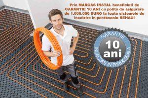 Incalzire in pardoseala cu garantie 10 ani si polita de asigurare de 1 milion de euro la toate pachetele